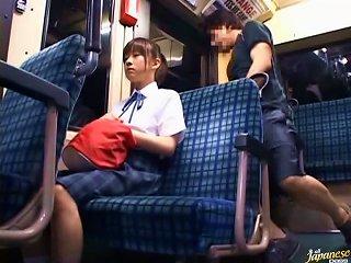 Cute Japanese School Girl Sucks And Fucks In Public Bus