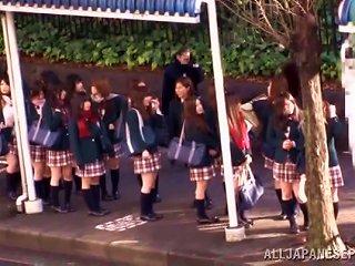 Japanese Teen In Uniform Gets Fucked In A School